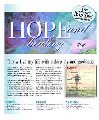 Image of front page of hope and healing